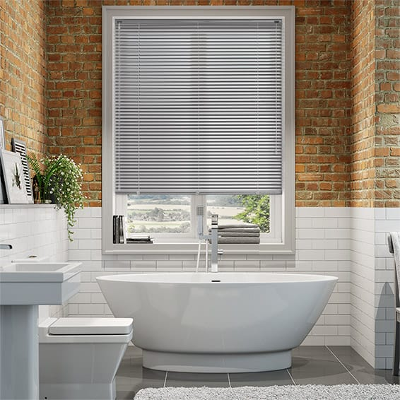 Spirit Light Grey Aluminium Venetian Blind - 25mm Slat