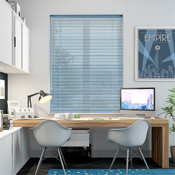 Spirit Surf Blue Aluminium Venetian Blind - 25mm Slat