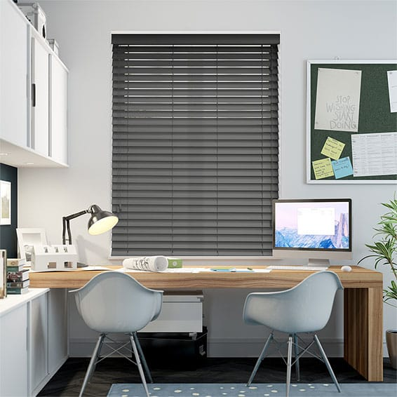 Luxe Ironstone Timber Style Venetian Blind - 50mm Slat