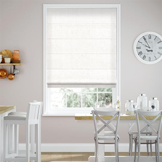 Acantha Snow White Roman Blind