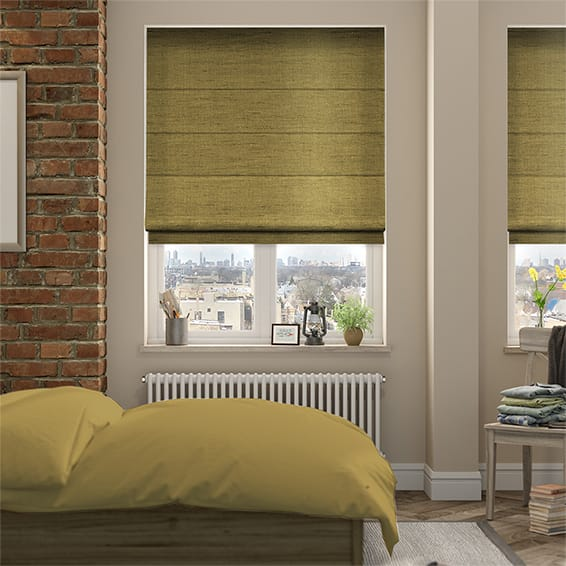 Ahisma Luxe Faux Silk Honey Roman Blind