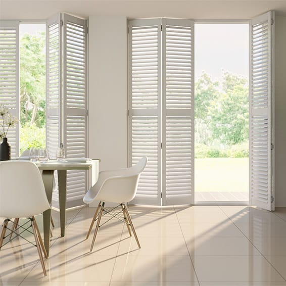 Alpine Smooth White Shutter Blinds