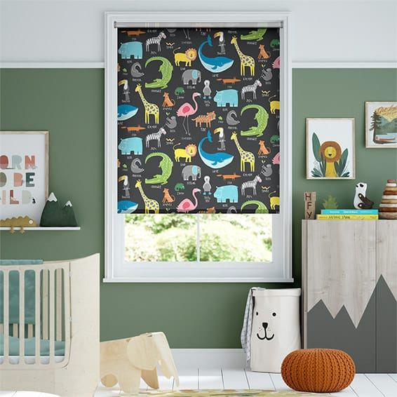 Animal Magic Blackboard Blockout Roller Blind