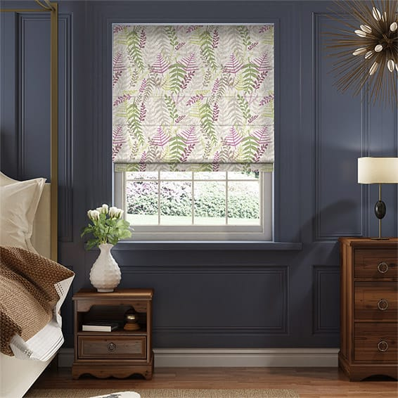 Arboretum Linen Heather Roman Blind