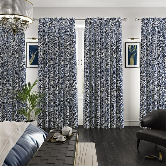 Artemis Marlin Blue Curtains