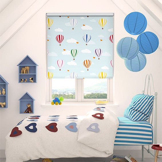 Balloons Flying High Blockout Roller Blind