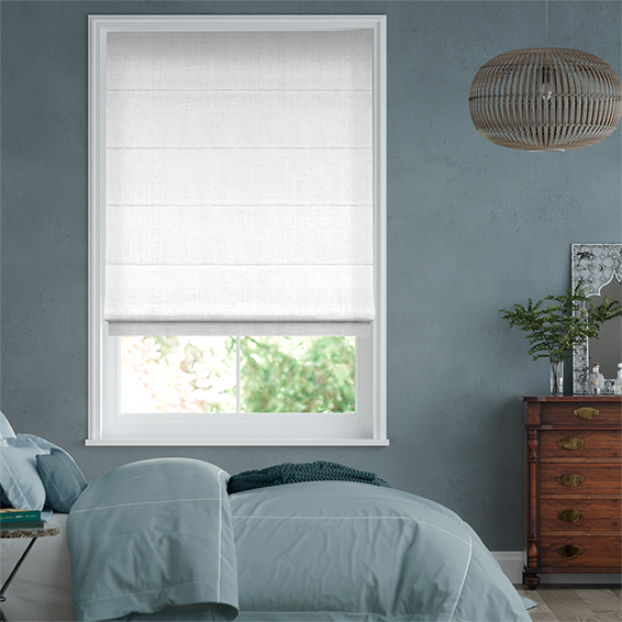 Roman Blinds Online Made To Measure Linen White Roman