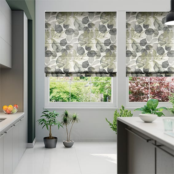 Blakely Faux Silk Vapour Grey Roman Blind