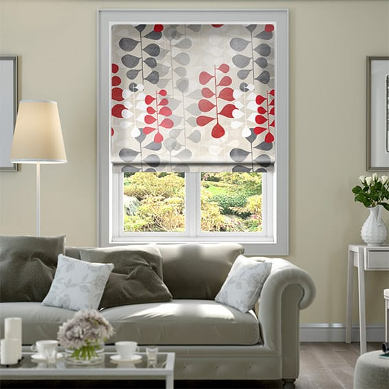 Blooming Meadow Faux Silk Ruby Roman Blind