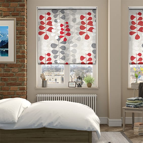 Blooming Meadow Ruby Roller Blind