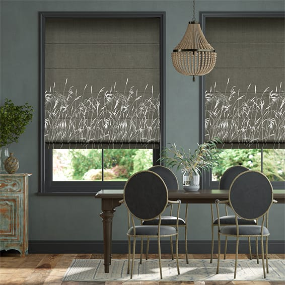 Blowing Grasses Storm Roman Blind