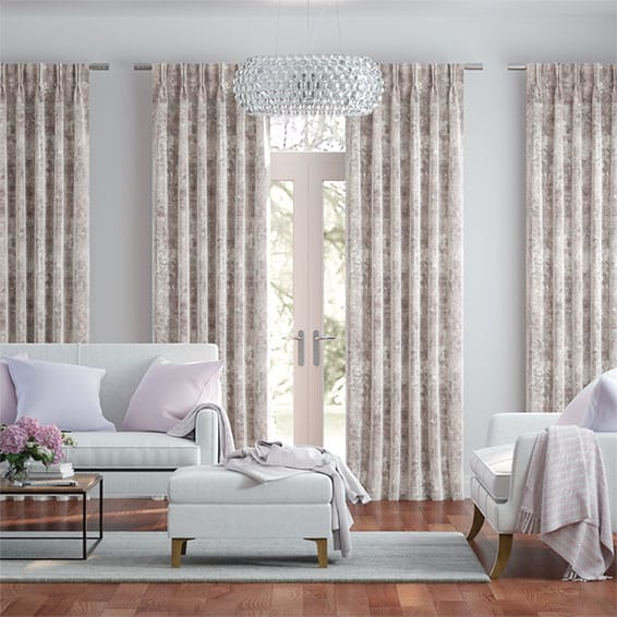 Breedon Weave Blush Curtains