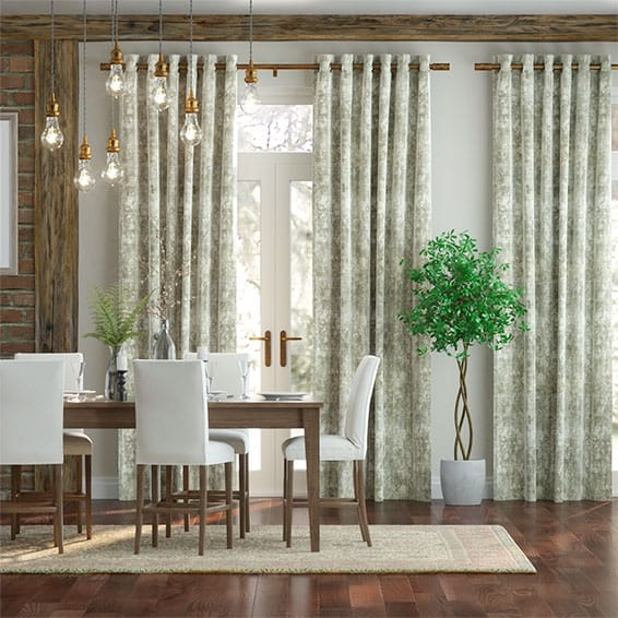 Breedon Weave Parchment Curtains