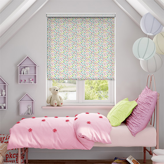 Bricks Fruit Punch Roller Blind