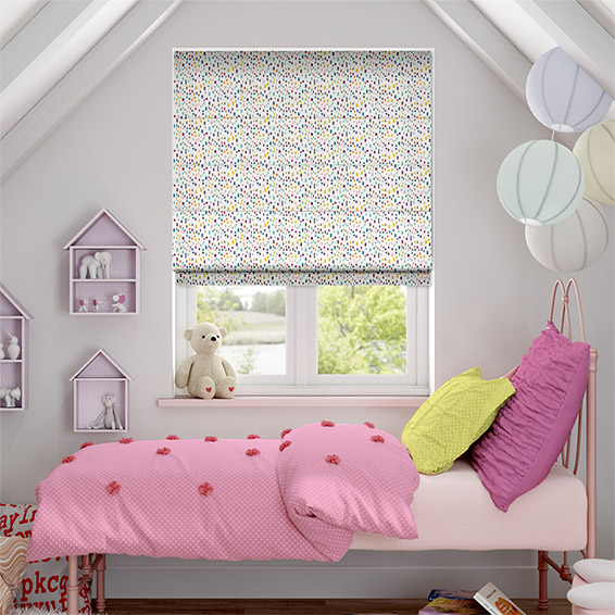 Bricks Rainbow Roman Blind