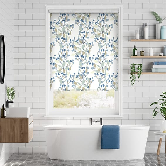 Bursting Berries Blueberry Roller Blind