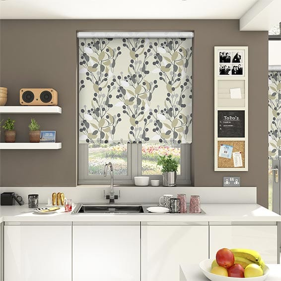 Bursting Berries Sepia Roller Blind