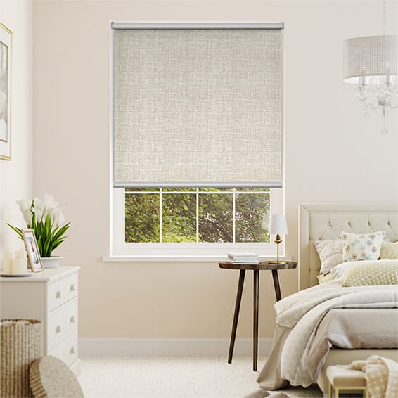 Melody Bone-White Blockout Roller Blind