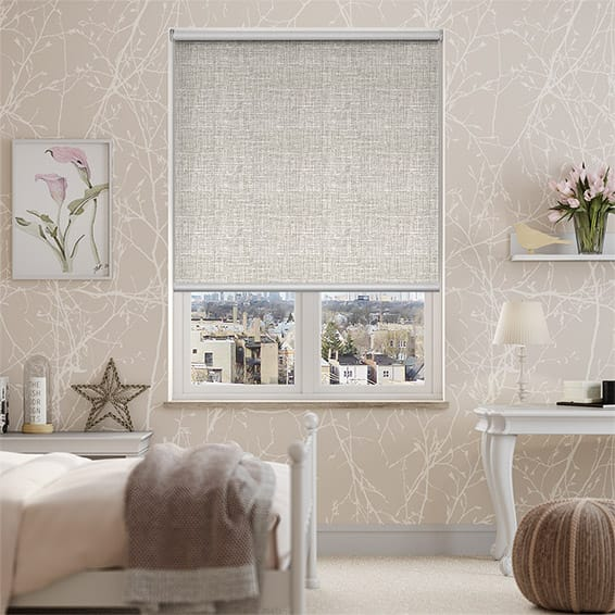 Melody Ecru-White Blockout Roller Blind