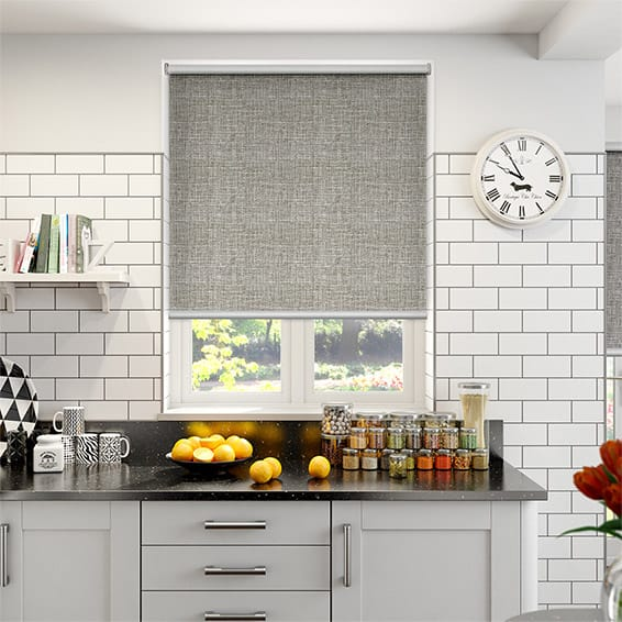 Melody Oyster-White Blockout Roller Blind