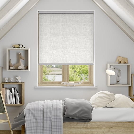 Melody Stone-White Blockout Roller Blind