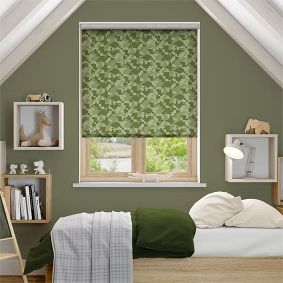 Camo Greenery Roller Blind