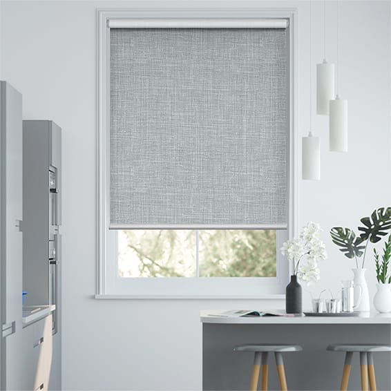 Canali Silver Grey Blockout Roller Blind