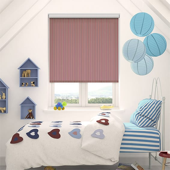 Candy Stripe Cherry Roller Blind