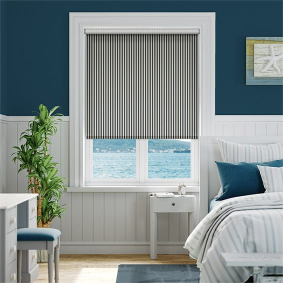 Candy Stripe Jet Roller Blind