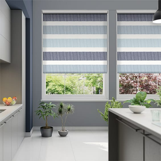 Cardigan Stripe Blue Horizon Roller Blind