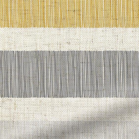 Cardigan Stripe Linen Flax Grey Roman Blind Blinds Online