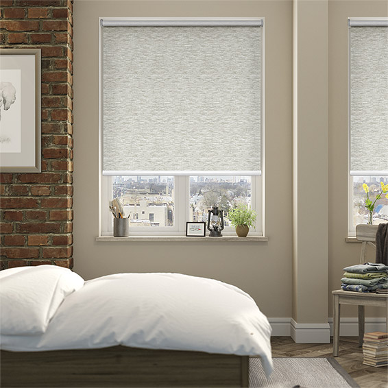 Electric Caress Natural Roller Blind