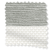 Caress Silver & Arctic White Double Roller Blind slat image