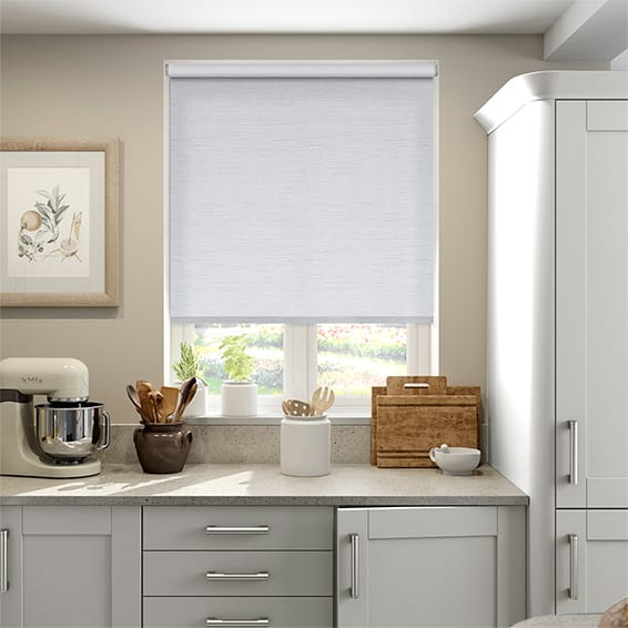 Caress White Blockout Roller Blind