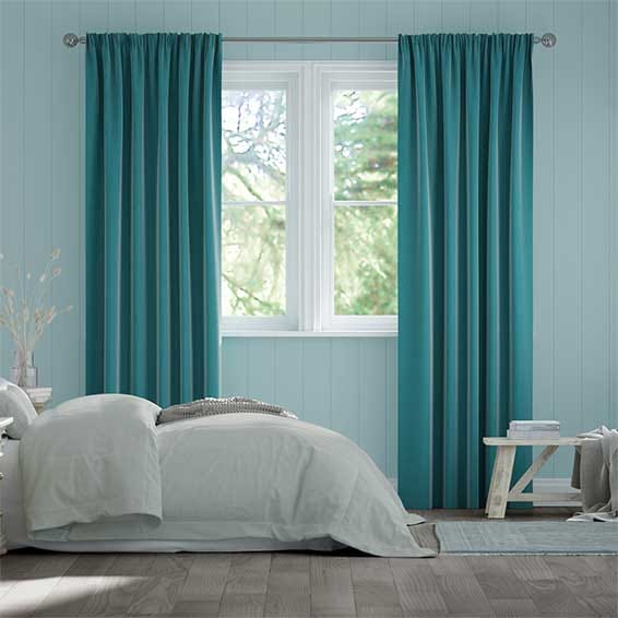 Cavendish Caribbean Blue Curtains