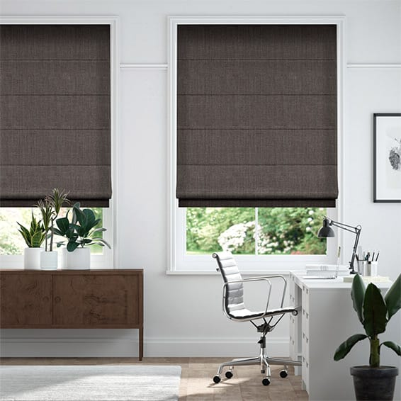 Cavendish Grey Taupe Roman Blind