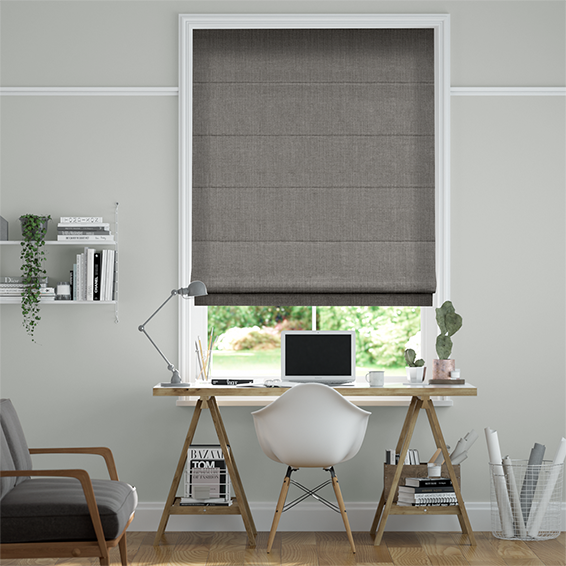 Cavendish Tonal Grey Roman Blind