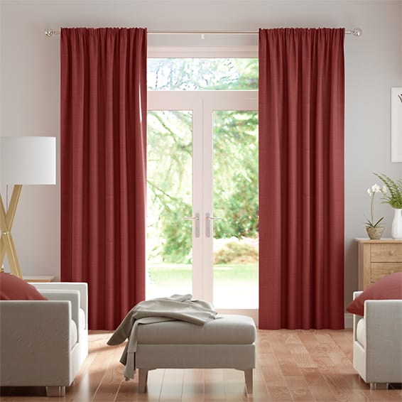 Chalfont Scarlet Curtains