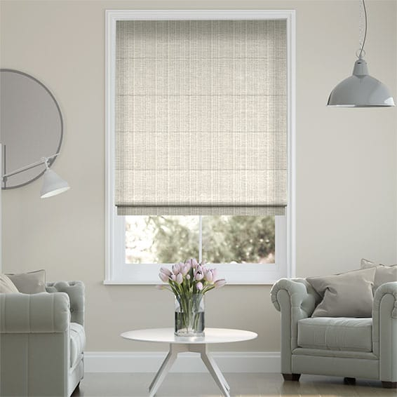 Chenille Chic Pearl Roman Blind