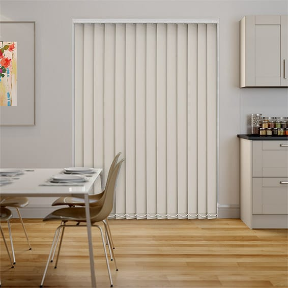 Serenity Alabaster Blockout Vertical Blind