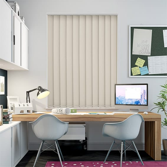 Serenity Almond Blockout Vertical Blind - 127mm Slat
