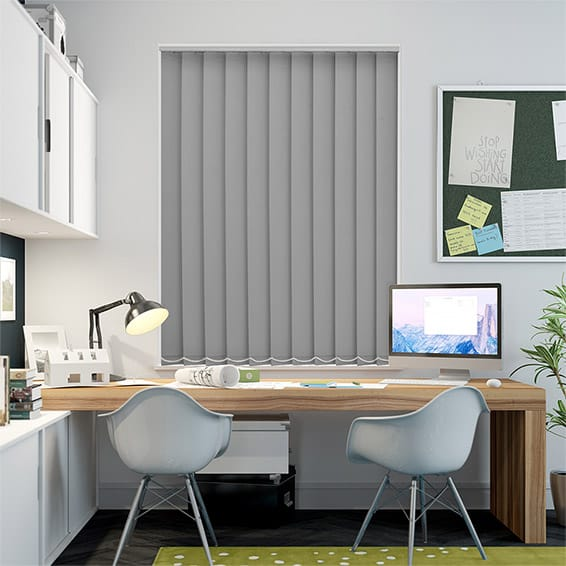 Serenity Ash Blockout Vertical Blind - 127mm Slat
