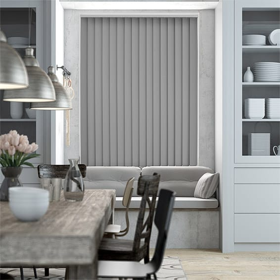 Serenity Ash Blockout Vertical Blind - 89mm Slat