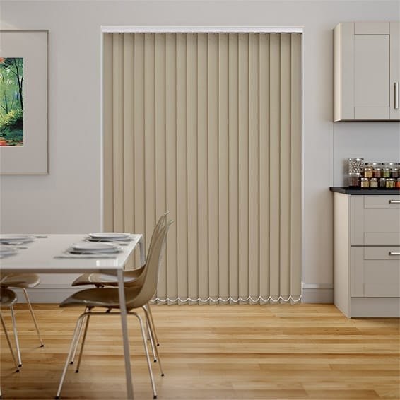 Serenity Beechwood Blockout Vertical Blind - 89mm Slat