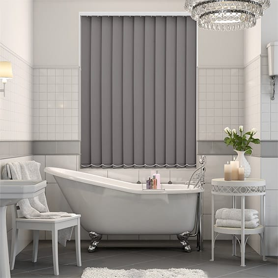 Serenity Blush Blockout Vertical Blind - 127mm Slat