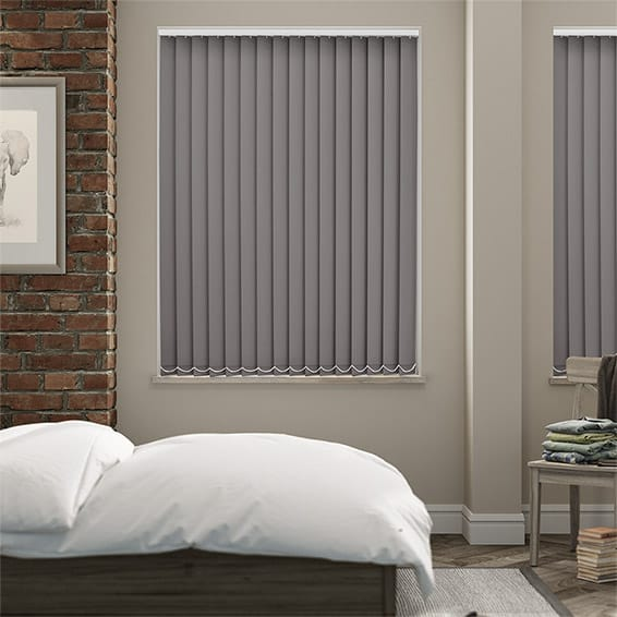 Serenity Blush Blockout Vertical Blind - 89mm Slat