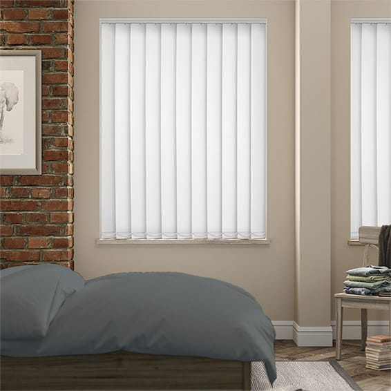 Serenity Chalk Blockout Vertical Blind - 127mm Slat