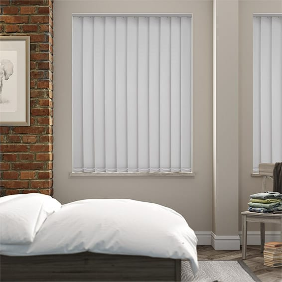 Serenity Cloud Blockout Vertical Blind - 127mm Slat