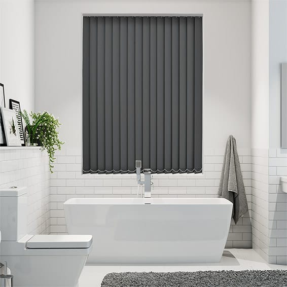 Serenity Coal Blockout Vertical Blind - 89mm Slat