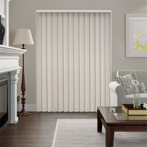 Serenity Cotton Blockout Vertical Blind - 127mm Slat